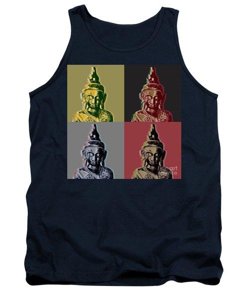 Thai Buddha Tank Top by Jean luc Comperat