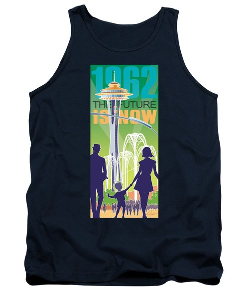 The Future Is Now - Green Tank Top