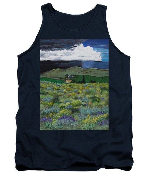 Tank Top featuring the painting The High Desert Storm by Jennifer Lake