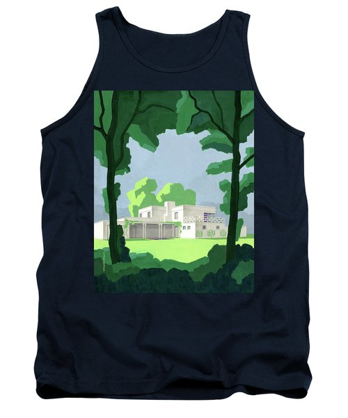 The Ideal House In House And Gardens Tank Top
