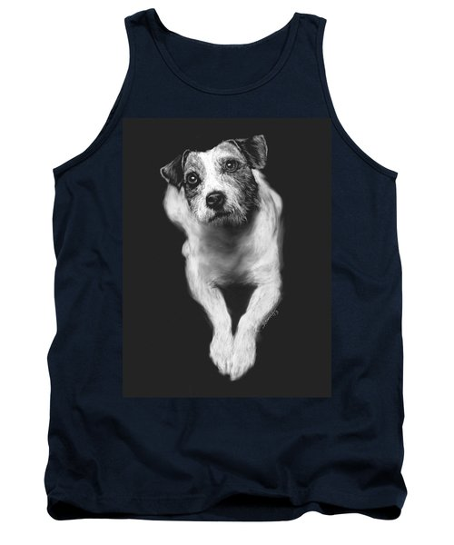 The Jack Russell Stare- Got Ball? Tank Top by Rachel Hames