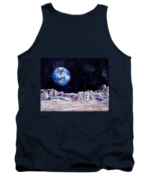 Tank Top featuring the painting The Moon Rocks by Jack Skinner