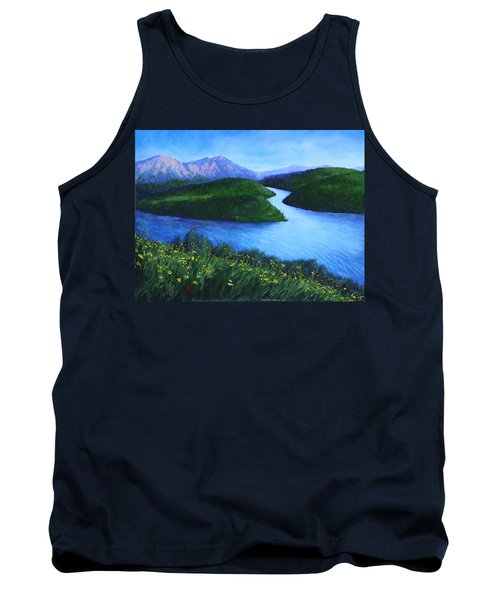 The Mountains Beyond Tank Top by Penny Birch-Williams