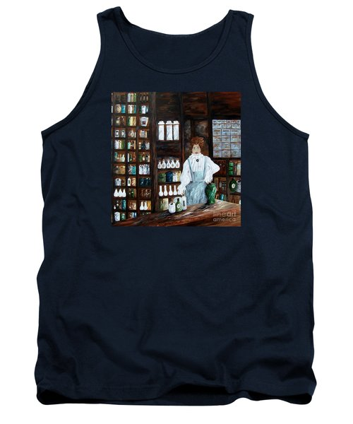 The Old Pharmacy ... Medicine In The Making Tank Top by Eloise Schneider