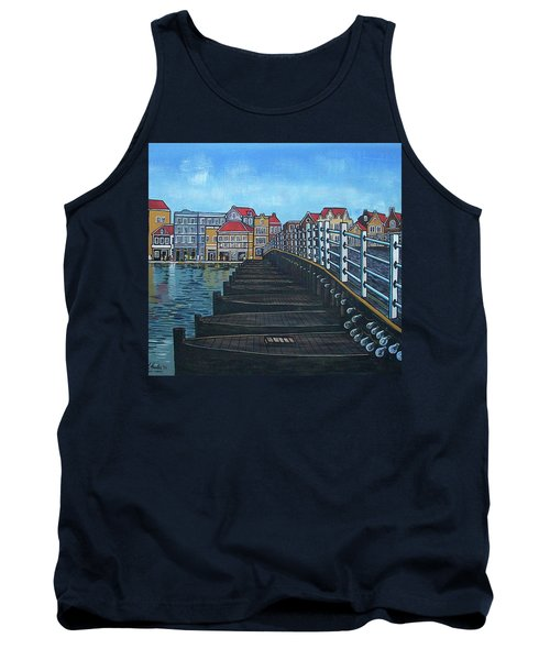 The Old Queen Emma Bridge In Curacao Tank Top by Frank Hunter