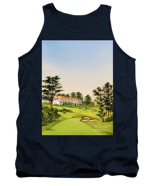 Tank Top featuring the painting The Olympic Golf Club - 18th Hole by Bill Holkham