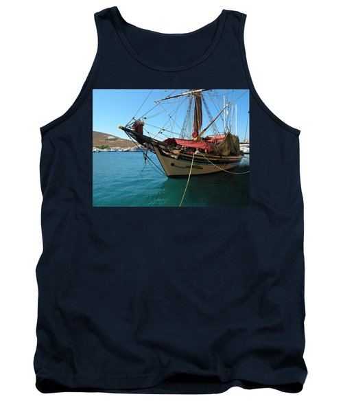 The Pirate Ship  Tank Top by Micki Findlay