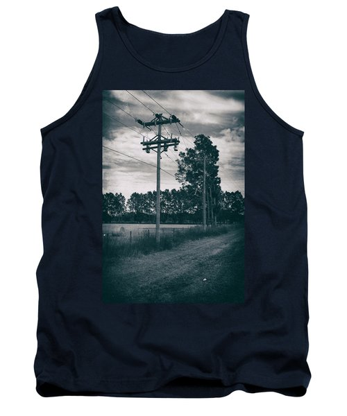 Tank Top featuring the photograph The Power Lines  by Howard Salmon