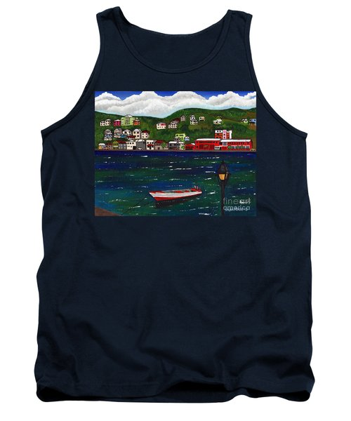 The Red And White Fishing Boat Carenage Grenada Tank Top