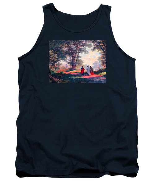 The Road To Emmaus Tank Top by Tina M Wenger