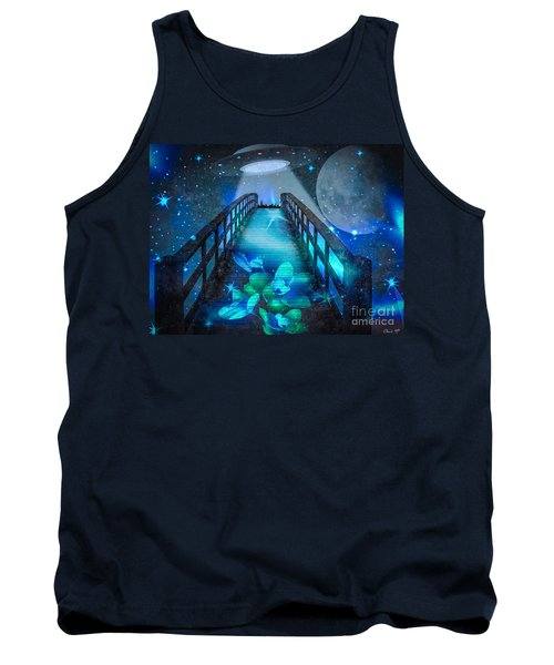 Tank Top featuring the digital art The Visit by Eleni Mac Synodinos