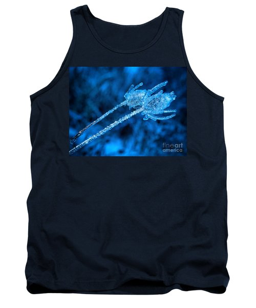Thistle Plant On Icy Night Tank Top