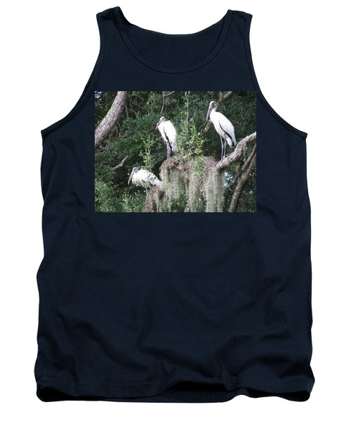 Three Wood Storks Tank Top