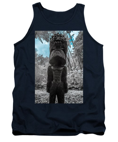 Tiki Man In Infrared Tank Top