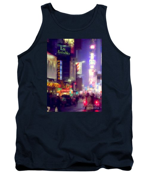 Times Square At Night - Columns Of Light Tank Top