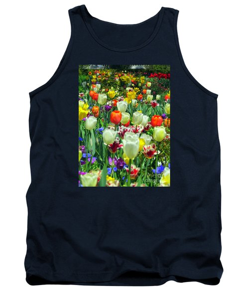 Tiptoe Through The Tulips Tank Top by Elizabeth Dow