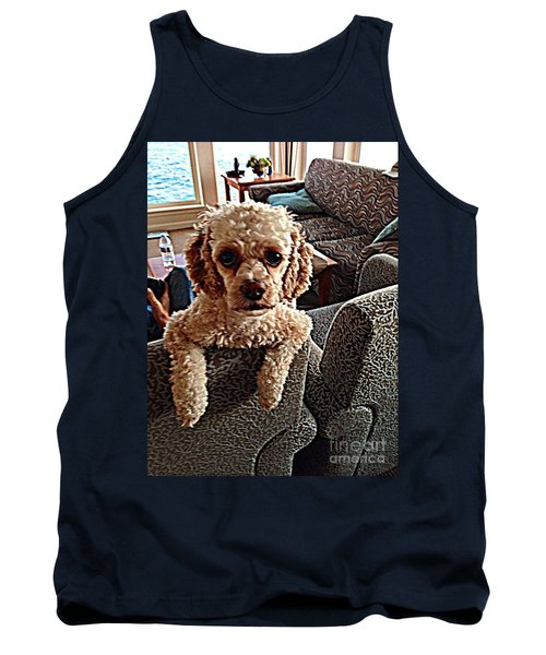 Tank Top featuring the photograph Toy Cockapoodle 1 by Richard W Linford