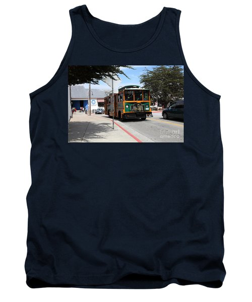 Trolley At The Monterey Bay Aquarium On Monterey Cannery Row California 5d25105 Tank Top