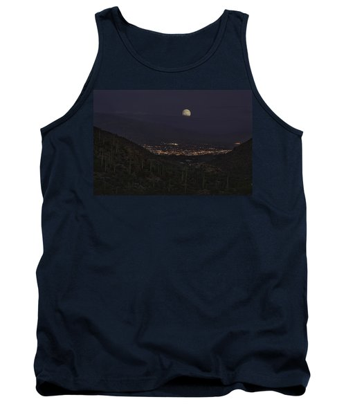 Tank Top featuring the photograph Tucson At Dusk by Lynn Geoffroy