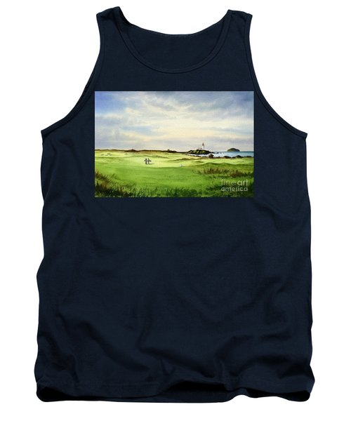 Tank Top featuring the painting Turnberry Golf Course Scotland 12th Tee by Bill Holkham