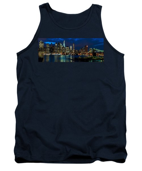 Twilight Nyc Panorama Tank Top by Mitchell R Grosky