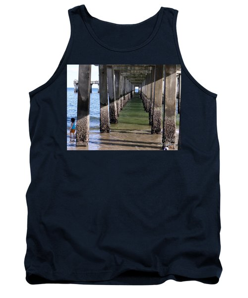 Tank Top featuring the photograph Under The Boardwalk by Ed Weidman