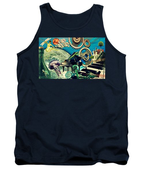 Tank Top featuring the digital art Underwater Dreams by Ally  White