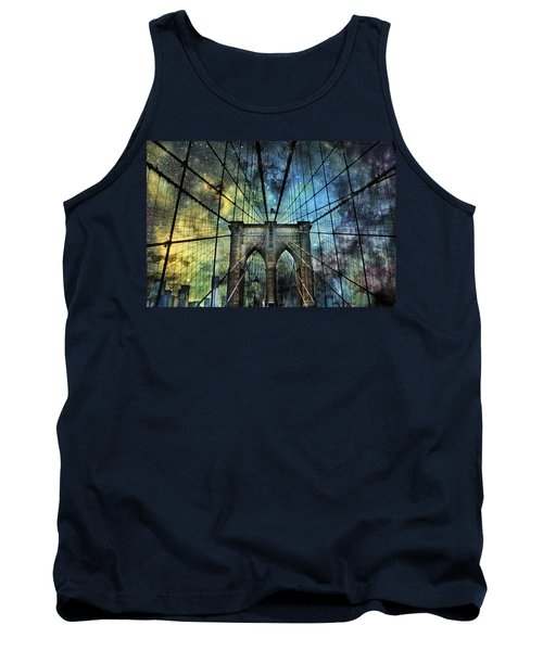 Universe And The Brooklyn Bridge Tank Top