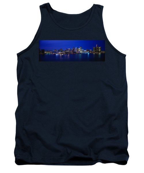 Usa, Michigan, Detroit, Night Tank Top
