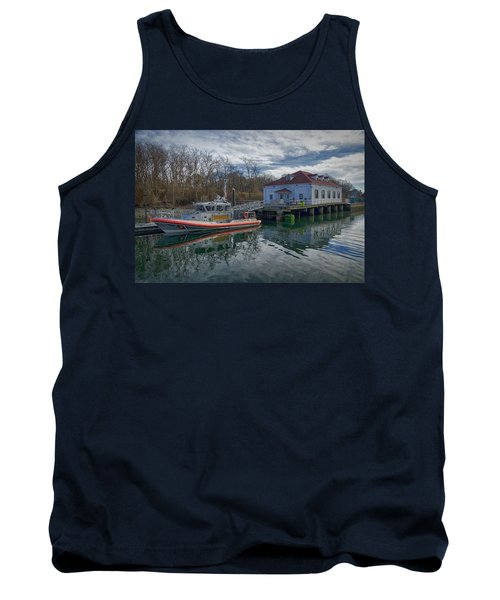 Tank Top featuring the photograph Usgs Castle Hill Station by Joan Carroll