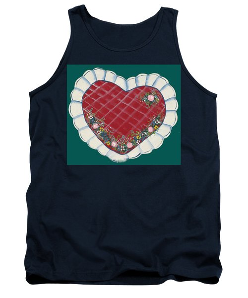 Tank Top featuring the painting Valentine Heart by Barbara McDevitt