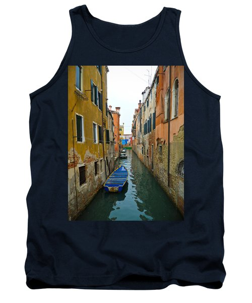 Tank Top featuring the photograph Venice Canal by Silvia Bruno