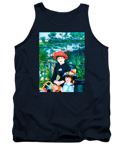 Version Of Renoir's Two Sisters On The Terrace Tank Top by Lorna Maza