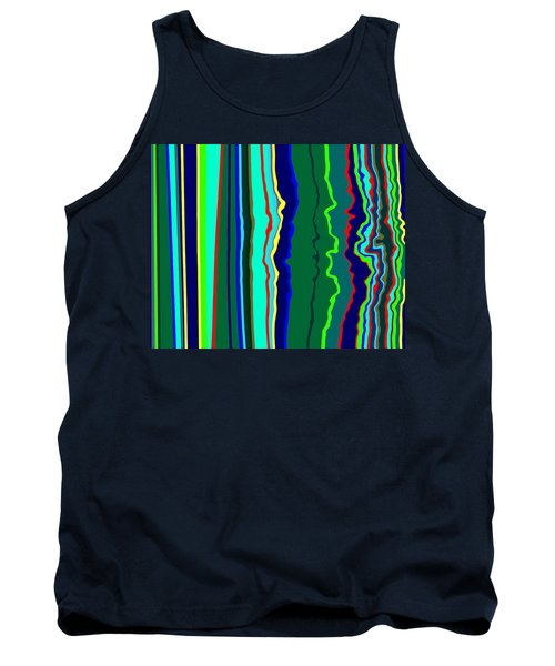 Vibrato Stripes  C2014  Tank Top by Paul Ashby