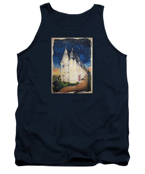 The Victorian Apartment Building By Rjfxx. Original Watercolor Painting. Tank Top by RjFxx at beautifullart com