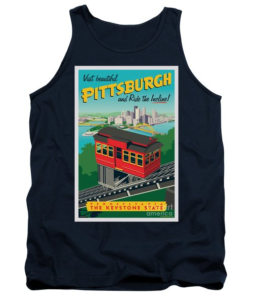 Pittsburgh Poster - Incline Tank Top