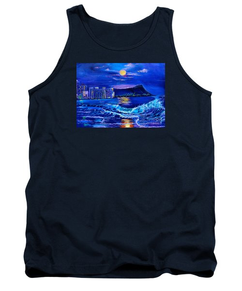 Waikiki Lights Tank Top by Jenny Lee