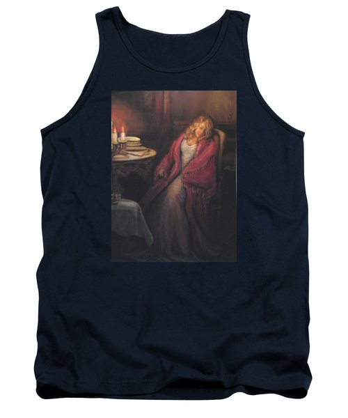 Tank Top featuring the painting Waiting by Donna Tucker