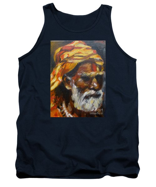 Tank Top featuring the painting Wandering Sage Small by Mukta Gupta