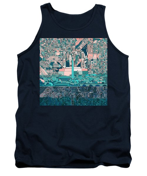 Washington Dc Skyline Abstract 5 Tank Top