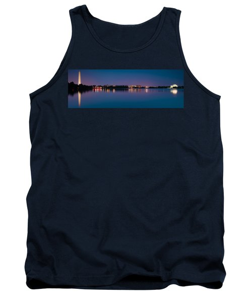 Washington Skyline Tank Top by Sebastian Musial