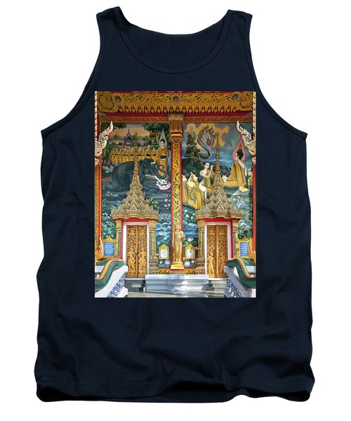 Tank Top featuring the photograph Wat Choeng Thale Ordination Hall Facade Dthp143 by Gerry Gantt