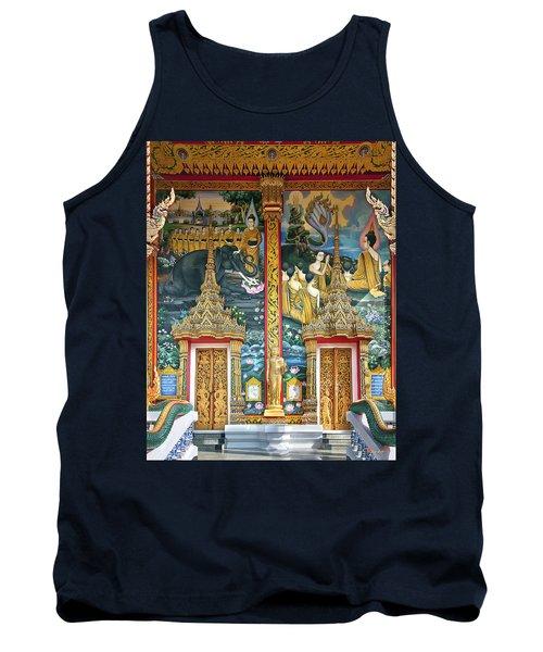 Wat Choeng Thale Ordination Hall Facade Dthp143 Tank Top by Gerry Gantt
