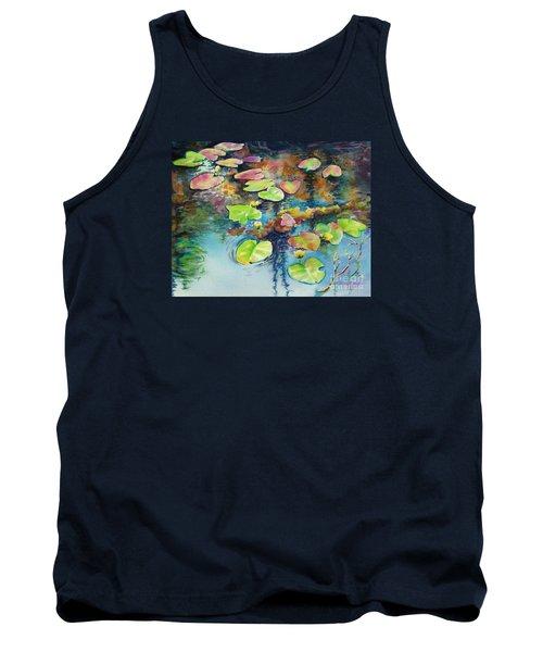Waterlilies In Shadow Tank Top by Kathy Braud