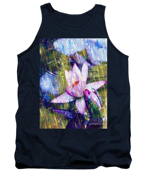 Purple Waterlily Paradise Tank Top by Carol F Austin