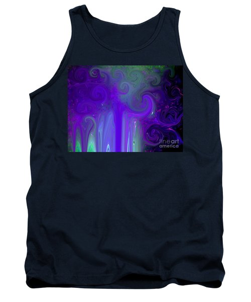 Waves Of Violet - Abstract Tank Top