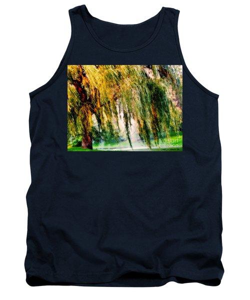 Weeping Willow Tree Meditation Wall Art Print  Tank Top