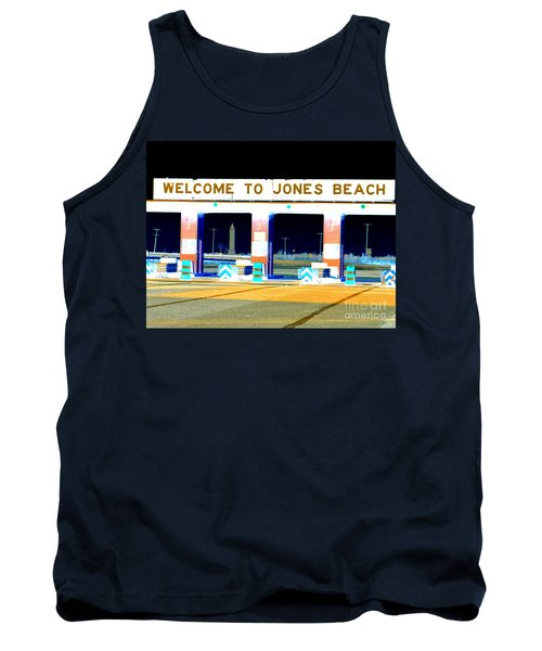Welcome To Jones Beach Tank Top by Ed Weidman