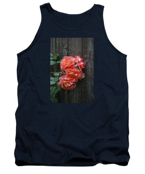 Westerland Rose Wood Fence Tank Top by Tom Wurl