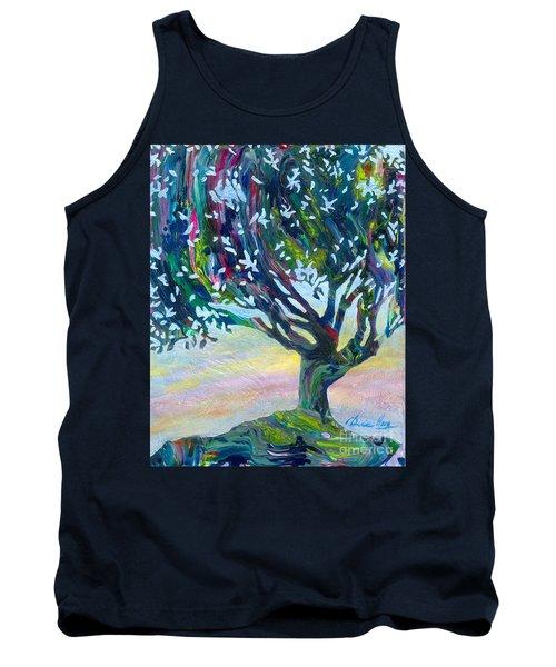 Whimsical Tree Pastel Sky Tank Top by Denise Hoag